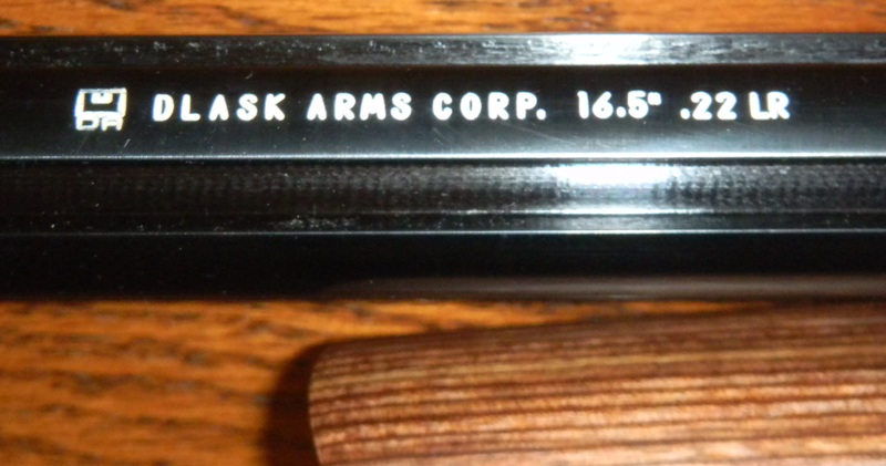 Dlask Arms fluted 16.5 inch 10/22 barrel