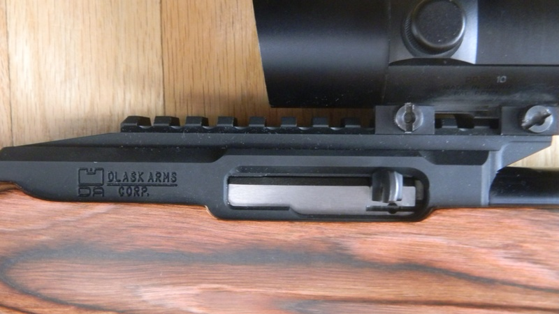 DAR22 receiver with integral rails